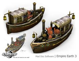 Mid-east Fire Boat by KrisWood