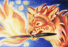 ACEO: Fire Bringer by vladimirsangel