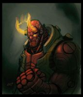 robo-hellboy by shoze