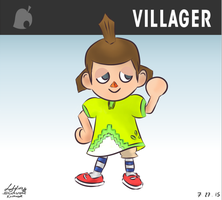 Fem-Villager (4th Skin) from Super Smash Bros. 4! by Sylverstone14