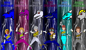 Digimon Gokaiger Kyoryuger 100 for Asrockrpg by rangeranime