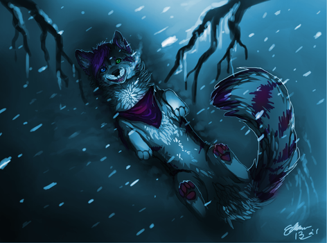 The snow at night by OwlDeerForest