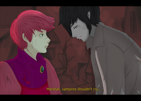 Marshall Lee x Gumball - Vampires shouldn't cry by GustyBow