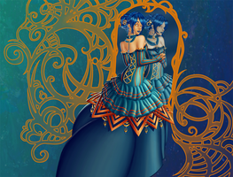 On The Other Side Of The Mirror By Namtia by violetice