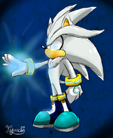 Silver the hedgehog  by KyuubiCore