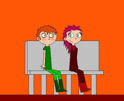 Lindsey and Garry on a date by yeagerspace