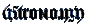 Astronomy Ambigram by JZumun