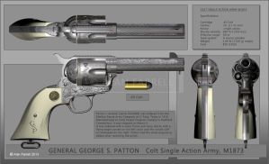 General Patton's revolver by AlanFarrell