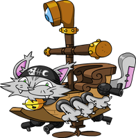 CAT BATTLESHIP FOREVER by professorfandango
