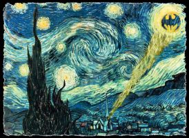 Gotham Starry Night by 1funnyguy