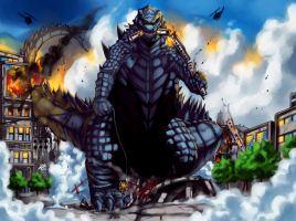 Godzilla Homage by Warriorking4ever