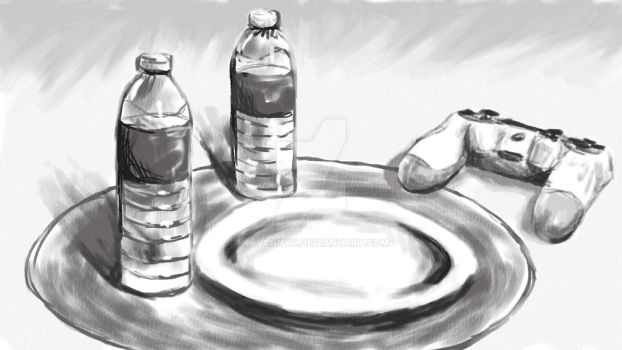 Art Challenge - Day 1-  Draw What's on the Table by KyranNyx