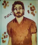 Markiplier Coffee Painting by elilee23