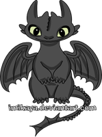 Toothless by imikaya