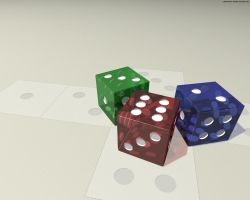 Very Large Dice by caedes