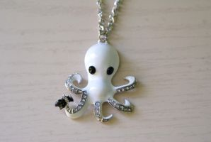 Funky Octopus Necklace by foowahu-etsy