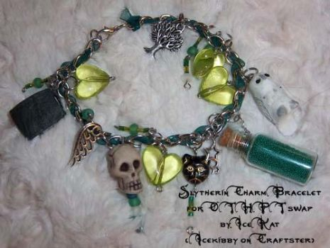 Slytherin Charm Bracelet by The-IceKat