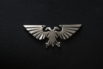 Stainless steel Warhammer40k Aquila pendant by Snoopyc