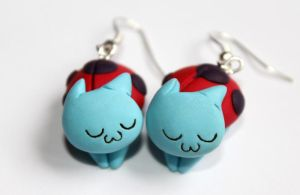 CatBug Earrings by Nabila1790