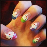 Cupcake Nails (Remake) by megs2606