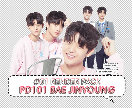 #01 Render/PNG Pack: Produce 101 Bae Jinyoung by nayahna101