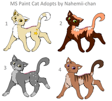More paint Cat adopts - CLOSED by Nahemii-chan