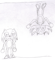 Sonic and Shadow - Up and Down by AGodofIrony