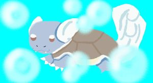 Cloudears - Bubbly Wartortle by tenko72