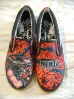 Ninja Gaiden shoes by zlistrockstar
