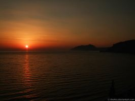 Sunset at Corfu's Coast by the4ce