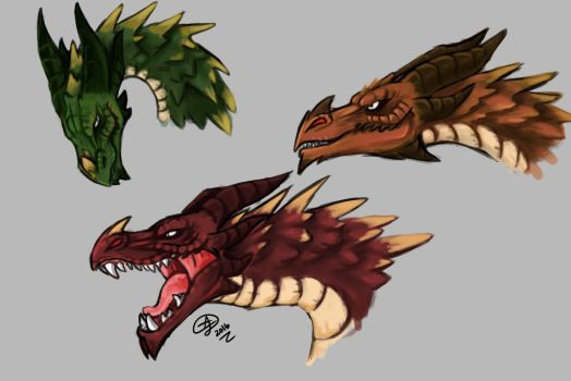 Skyrim Dragons by AeonianDragon76