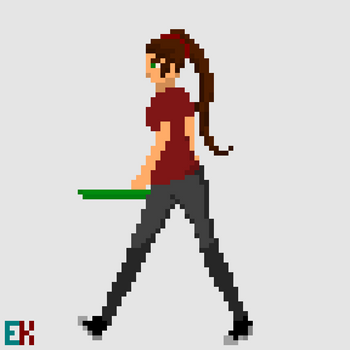 [GIF] OC: Redd Walking by Only-Pixels