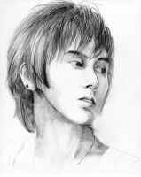 graphite sketch of yunho by frozenplum