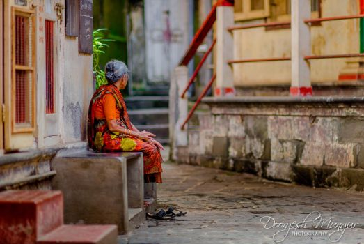The Old lady by Doorgesh