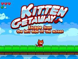 Kitten Getaway title screen by huzba
