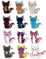 6 points each OPEN by Zoesadopts4u