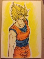 Goku - Dad's Birthday Card by MionOfDeath