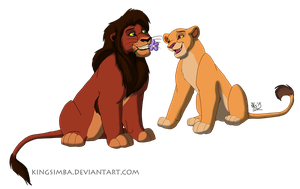 Kovu and Kiara by KingSimba