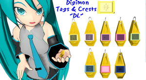 [MMD] Digimon Tags and Crests DL by OniMau619