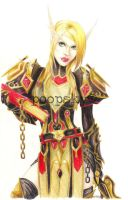 blood elf fanart - coloured - by konfusion-with-a-k