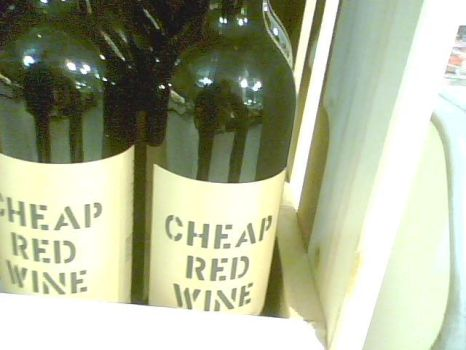 Cheap Red Wine by Sasume001