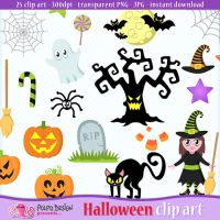 Cute Halloween clipart by PolpoDesign