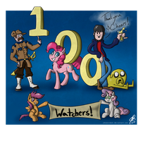 Thank you to  my 100 Watchers! by Johansrobot