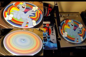 Rainbow Dash Slipmat by KayinKento