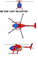 Hughes MD 530F Light Helicopte by bagera3005