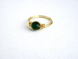 gold emerald ring by faranway