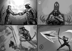 concept sketches for untold stories 5-8 by EricuchoValiente
