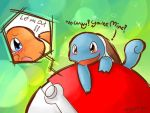 Pokemon :: Squirtle-Charmander by nyotaro