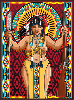 Native American Woman poster by godzillasmash