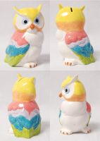 Rainbow Owl by WendysKaleidoscope